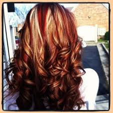 natural red hair with highlights and lowlights hair with blonde highlights lowlights