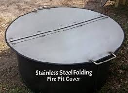 Firepit Lid 40 Dia Heavy Duty Folding Stainless Steel Pit Ring Cover