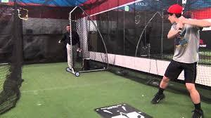 crofton baseball underhand flips in the batting cage youtube