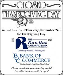 thanksgiving day rawlins national bank rawlins wy
