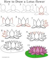 Simple Lotus Flower Drawing - how to draw lotus flower step by step drawing henna a how to