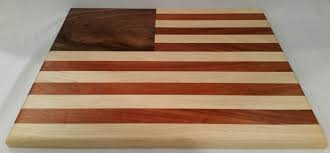 american flag cutting board hickory walnut monkey wood request a custom order and have something made just for you