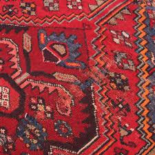 Floral Runner Rug Vintage Persian Rug Floral Design Hand Knotted Runner Rug Red