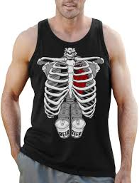 Halloween Skeleton Maternity Shirt by Halloween Skeleton Six Pack Beer Abs Xray Funny Costume Singlet