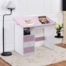 Drafting Table Sizes G1 2 21 Pink Computer Desk Adjustable Top Drawing Drafting Table