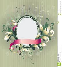 floral frame on wallpaper royalty free stock photos image 2657508
