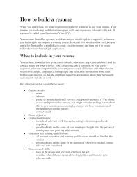 Skills For A Resume Make A Resume For Free