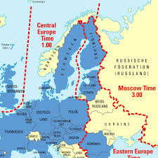 Eastern European Map by Indianas Time Zones And Daylight Saving Dst Within Europe Zone Map
