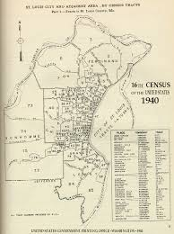 Map Of St Louis Area 1940 Census Tracts Indiana University Libraries