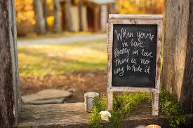 wedding quotes signs outdoor mountain wedding with green and white elements equally