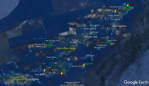 Bvi Map Drone Flights Over The Virgin Islands From The Miss Kitty Andy
