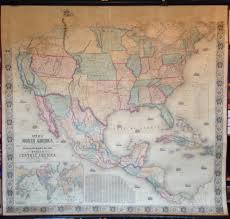 Map Of The United States And Mexico by Antique Wall Maps
