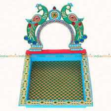 wedding tray peacock design engagement ring tray