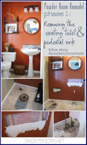 Powder Room Remodels Powder Room Remodel Phase 1 Removing The Existing Toilet And