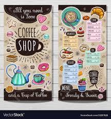 coffee shop brochure vector cafe menu design sketch style