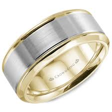 two tone mens wedding band 14kt 8mm two tone mens wedding band jupiter jewelry inc