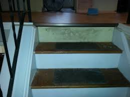 transition on stair from laminated flooring flooring diy