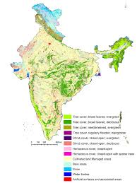 World Map Of India by Vegetation Type And Land Use Land Cover Map Of India Translated As