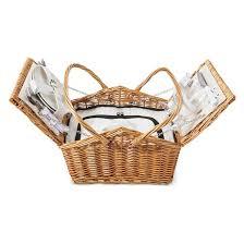 picnic basket set for 4 large picnic basket 12 pc set for 2 willow target