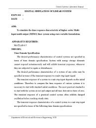 control system manual bandwidth signal processing electronics