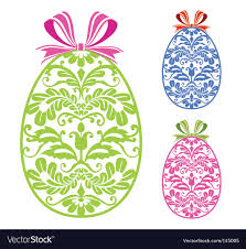 easter ornaments easter ornaments eggs royalty free vector image