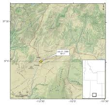 Map Of Northern Utah by 2016 U Of U Seismograph Stations
