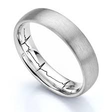 engravings for wedding bands heartbeat wedding ring actual heartbeat engraved wedding ring