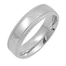 stainless steel wedding bands unisex 6mm milgrain 316 stainless steel wedding band ring