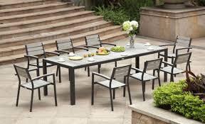 outdoor rectangular dining table misty garden lexington home