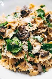 date night mushroom pasta with goat cheese recipe pinch of yum