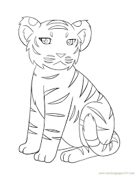 baby tiger coloring page free tiger coloring pages