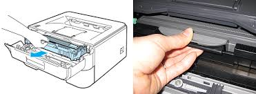 brother printer drum light how can i clean the corona wire of the drum unit brother