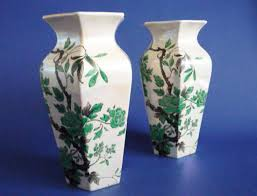 Indian Vases Lovely Pair Of Shelley Indian Peony Lustre Vases C1920 Sold