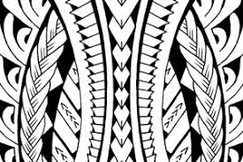 tribal calf design inspired on and polynesian patterns