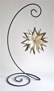 gold vines on ivory and black with ornament stand magyan clay