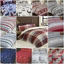 Brushed Cotton Duvet Covers Brushed Cotton Winter Christmas Xmas Flannelette Duvet Cover