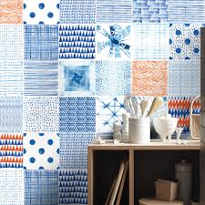Tile Decals For Kitchen Backsplash Shibori Tile Decals Tile Stickers Kitchen Tiles