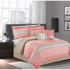 coral bedding sets home design ideas inside coral color comforter