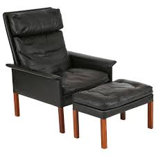 Ottoman Sale Hans Olsen Leather And Rosewood Lounge Chair And Ottoman For Sale