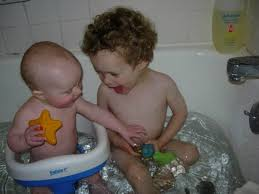 Babies In A Bathtub How To Conquer The Intimidating Task Of Giving Two Babies A Bath