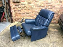 navy blue reclining sofa fantastic blue leather recliner blue leather recliner chair navy