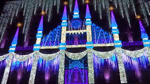 rockefeller center light show new york city december 21 2015