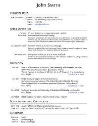Resume Template High Graduate Resume Templates Templates Curricula