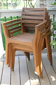 Stackable Patio Chairs Outdoor Interiors Stacking Chairs Brown Set Of 4