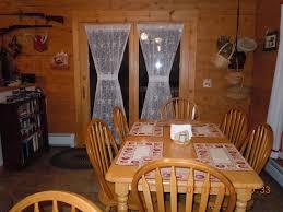 four bedroom log cabin jay peak views homeaway westfield main floor dining area