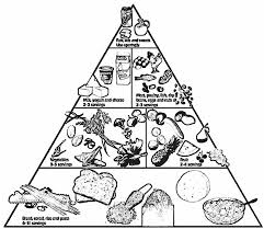 food pyramid with fruit and other coloring pages at page omeletta me