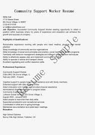 Volunteer Resume Example by Community Service Worker Resume Resume For Your Job Application