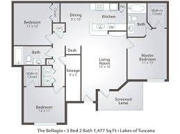 3 bedroom apartment floor plans u0026 pricing u2013 lakes of tuscana port