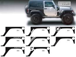 jeep grill sticker product jeep decal sticker rear quarter side graphics 07 16