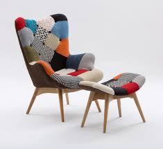 Esszimmerstuhl Mit Drehfuss Gepolsterte Sessel Mit Holzboden Patchwork Polsterung Idfdesign